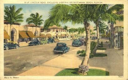 Exclusive Shopping District - Miami Beach, Florida FL Postcard