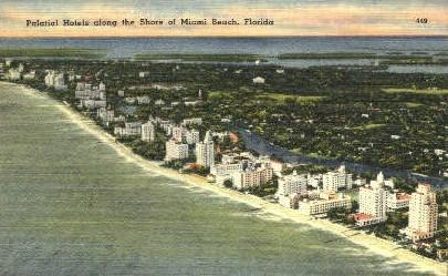 Palatial Hotels - Miami Beach, Florida FL Postcard