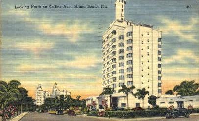 Collins Avenue - Miami Beach, Florida FL Postcard