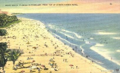 Strath Haven Hotel - Miami Beach, Florida FL Postcard