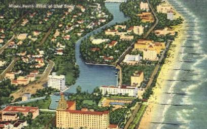 23rd Street - Miami Beach, Florida FL Postcard
