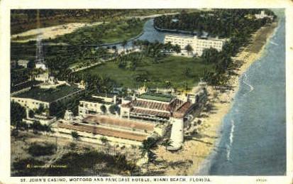 St. John's Casino - Miami Beach, Florida FL Postcard