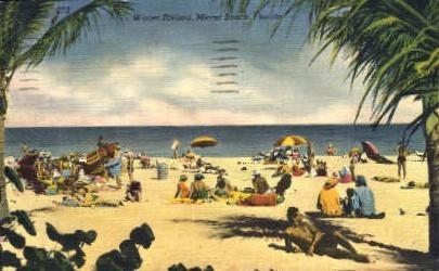 Winter Riviera - Miami Beach, Florida FL Postcard