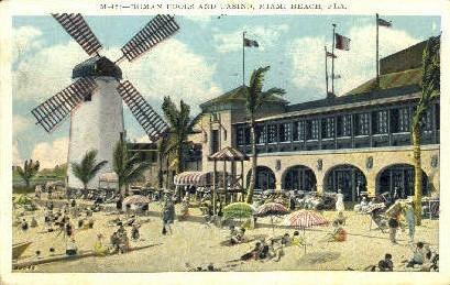Roman Pools - Miami Beach, Florida FL Postcard