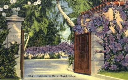 Miami Beach Estate - Florida FL Postcard