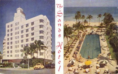 Sands Hotel - Miami Beach, Florida FL Postcard