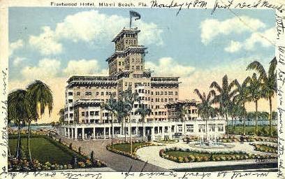 Fleetwood Hotel - Miami Beach, Florida FL Postcard