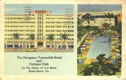 Dempsey Vanderbilt Hotel - Miami Beach, Florida FL Postcard
