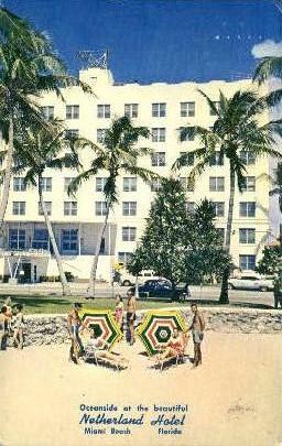 Netherland Hotel - Miami Beach, Florida FL Postcard