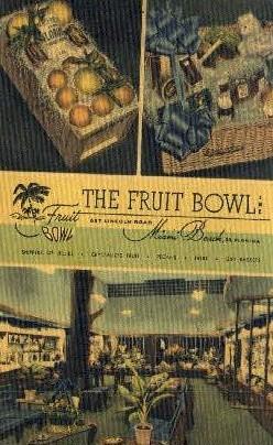 Fruit Bowl - Miami Beach, Florida FL Postcard