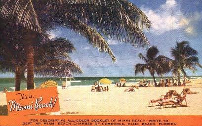 Chamber of Commerce - Miami Beach, Florida FL Postcard