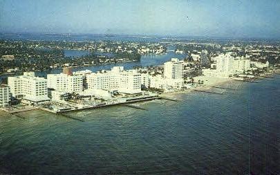 North Beach - Miami Beach, Florida FL Postcard