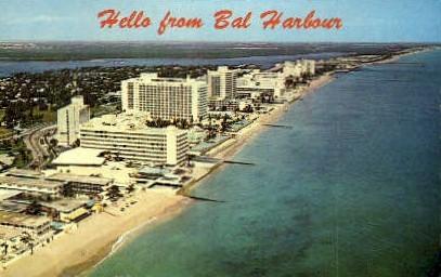 Bal Harbour - Miami Beach, Florida FL Postcard