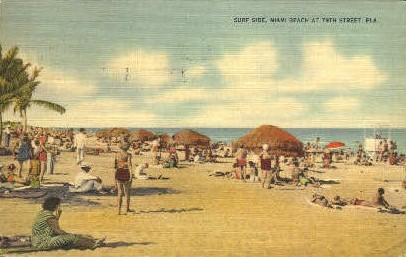 79th Street - Miami Beach, Florida FL Postcard