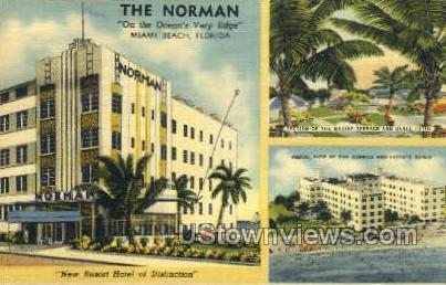 The Norman - Miami Beach, Florida FL Postcard