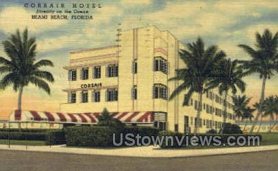 Corsair Hotel - Miami Beach, Florida FL Postcard