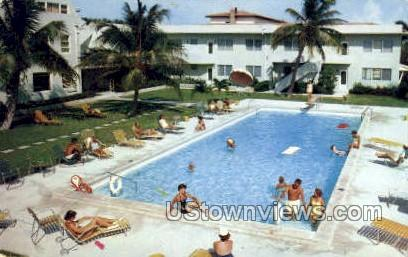 El Clair Apts - Fort Lauderdale, Florida FL Postcard