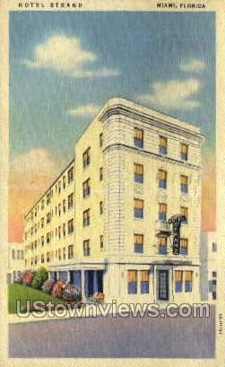 Hotel Strand - Miami, Florida FL Postcard