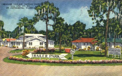 Treasure Village Tourist Court - St Petersburg, Florida FL Postcard