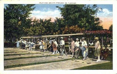 Shuffleboard - Misc, Florida FL Postcard