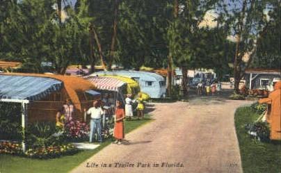 Trailer Park - Misc, Florida FL Postcard