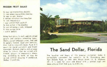 The Sand Dollar - St Petersburg, Florida FL Postcard