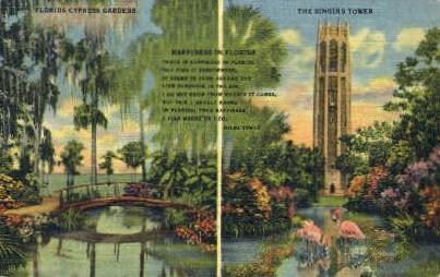 Cypress Gardens - Misc, Florida FL Postcard