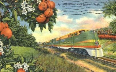 Steamliner - Misc, Florida FL Postcard