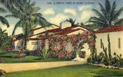 Spanish Villa - Misc, Florida FL Postcard