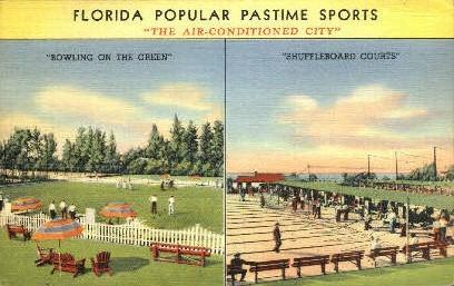 Shuffleboard - Sarasota, Florida FL Postcard