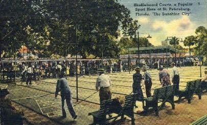 Shuffleboard - St Petersburg, Florida FL Postcard