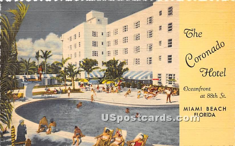 Coronado Hotel - Miami Beach, Florida FL Postcard