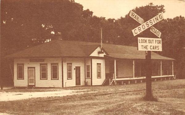 The McIntosh Depot Florida Postcard
