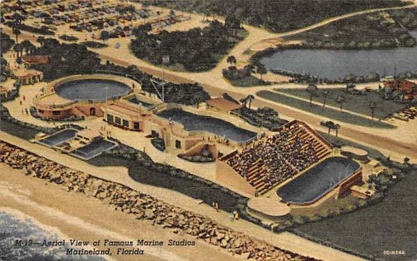 Aerial View of Famous Marine Studios Marineland, Florida Postcard