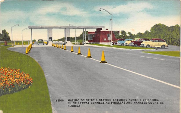 Maximo Point Toll Station Manatee Counties, Florida Postcard