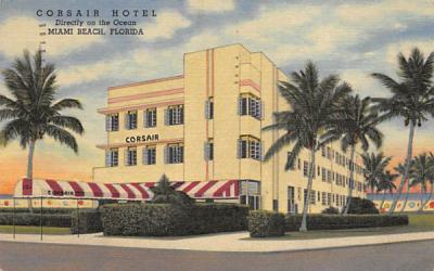 Corsair Hotel Miami Beach, Florida Postcard