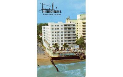 The New Atlantic Towers Miami Beach, Florida Postcard