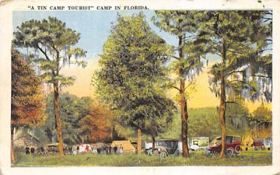 A Tine Camp Tourist Camp in Florida, USA Postcard
