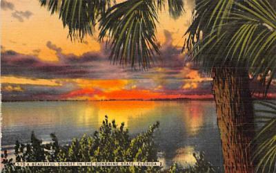 A Beautiful Sunset in the Sunshine State, FL, USA Misc, Florida Postcard