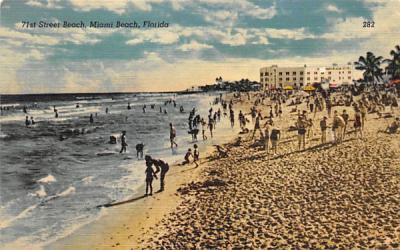 71st Street Beach Miami Beach, Florida Postcard
