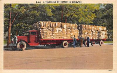 A Truckload of Cotton in Dixieland Misc, Florida Postcard