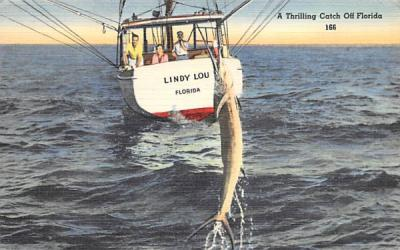A Thrilling Catch Off Florida, USA Postcard