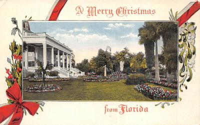 A Merry Christams from Florida, USA Postcard