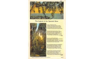 The Legend of the Spanish Moss Misc, Florida Postcard