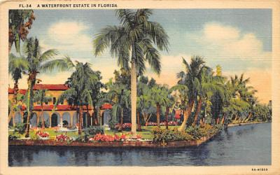 A Waterfront Estate in Florida, USA Postcard