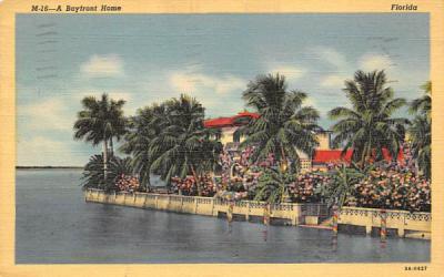 A Bayfront Home Misc, Florida Postcard