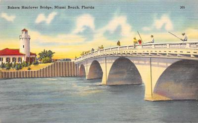 Bakers Haulover Bridge Miami Beach, Florida Postcard