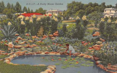 A Pretty Miami Garden, FL, USA Florida Postcard