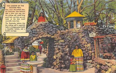 The Legend of the Wishing Well Miami, Florida Postcard