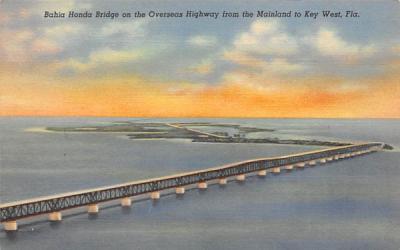 Bahia Honda Bridge on the Overseas Highway Misc, Florida Postcard